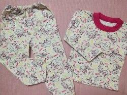 Пижама детская теплая (начес), размер 60, 68 (0085-13)