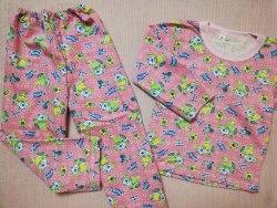 Пижама детская теплая (начес), размер 60 (0085-14)