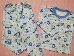 Пижама детская теплая (начес), размер 60, 68 (0085-17)