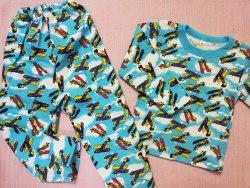 Пижама детская теплая (начес), размер 60 (0085-19)