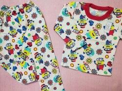 Пижама детская теплая (начес), размер 60 (0085-20)