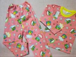 Пижама детская теплая (начес), размер 64 (0085-21)