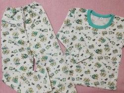 Пижама детская теплая (начес), размер 68 (0085-23)