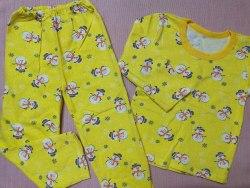 Пижама детская теплая (начес), размер 68 (0085-28)