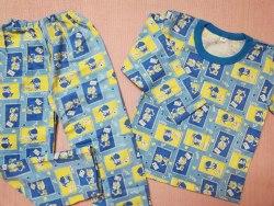 Пижама детская теплая (начес), размер 68 (0085-29)