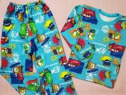Пижама детская начес плотный, размер 64 (0392-01)