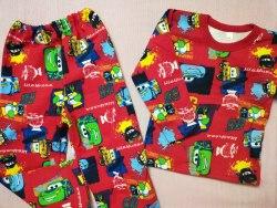Пижама детская начес плотный, размер 64 (0392-02)