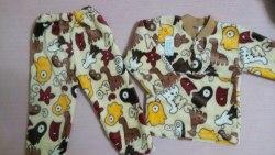 Пижама теплая, велсофт, размер 52 (0955-09)