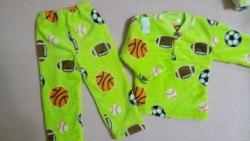 Пижама теплая, велсофт, размер 52, 56 (0955-10)