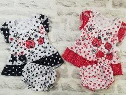 Комплект для девочек, платье с трусиками, кулир (0987)