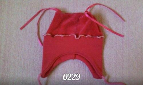 Шапка детская, велюр гладкокрашенный пенье (0229)