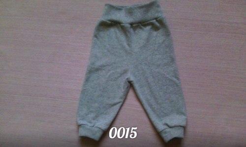 Штанишки ясельные, футер серый меланж (0015)