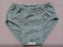 Трусы для мальчиков, кулир серый меланж (0808)