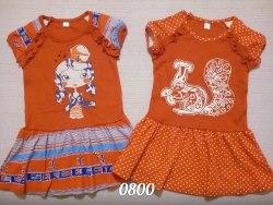 Платье, шелкография, интерлок (0800)