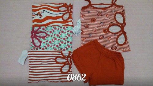 Комплект для девочек майка+шорты, кулир (0862)