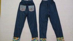 Лосины с карманами, стрейч джинс (0958)