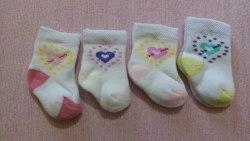 Носочки махровые для девочек, 0-3 мес (1017)