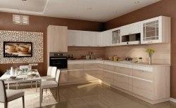Оливия кухня (Белый глянец/Сонома Эйч Светлая)