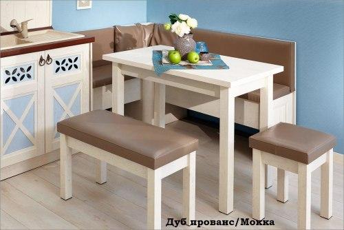 """Кухонный уголок """"Сити"""" Дуб Прованс/Мокка"""
