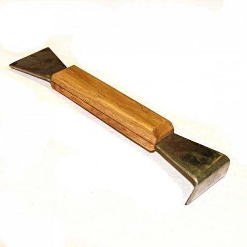 Стамеска из нержавеющего металла 200 мм деревянная ручка