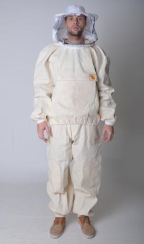 Костюм пчеловода с пришитой сеткой (ткань двунитка хлопок) цвет белый