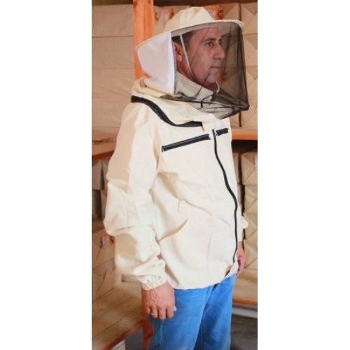 """Куртка пчеловода """"Двунитка"""" на молнии (ткань белая двунитка)"""