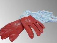 Перчатки с нарукавниками (прорезиненные)