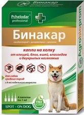 Бинакар капли на холку для собак (4 пипетки)