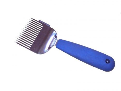 Вилка для распечатки сотов с силиконовой ручкой (цельная нерж.)
