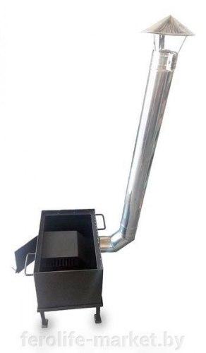 Печь для воскотопки прямоугольной на 7 рамок (черный металл крашеная)