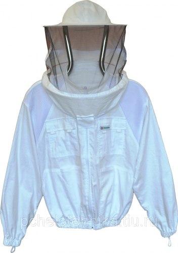 """Куртка """"Комфорт +"""" с натурального хлопка белый"""