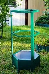 Грядка - клумба для вьющихся цветов и растений