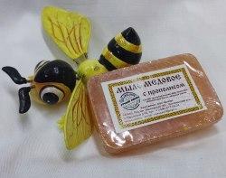 Мыло медовое с прополисом