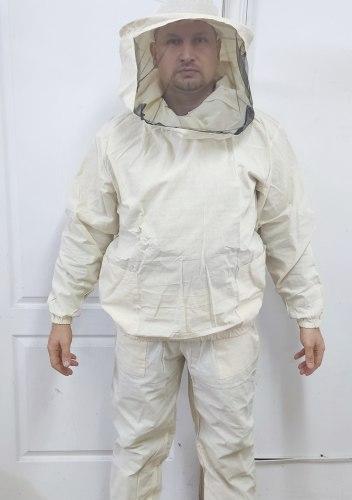 Костюм пчеловода (куртка+штаны+сетка) белая бязь