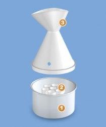 Ингалятор аэрозольный теплдовлажный растворов лекарственных средств и эфирных масел ЗАПАХИ ЗДОРОВЬЯ