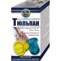 Массажная банка (2 шт.) «Тюльпан» для интенсивного воздействия