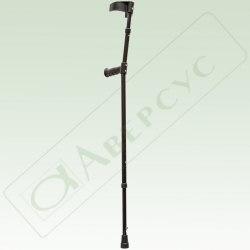 Костыль локтевой телескопический для взрослых с регулируемыми по высоте нижними и верхними секциями с устройством против скольжения (УПС)