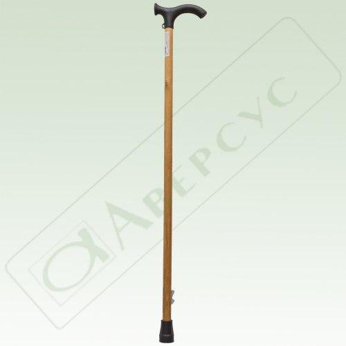 Трость деревянная с пластмассовой ручкой и устройством против скольжения (УПС)