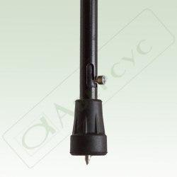 Трость металлическая (алюминиевый сплав), телескопическая, регулируемая по высоте, с устройством против скольжения