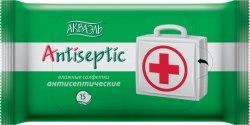 Антисептические влажные салфетки, 15 шт.