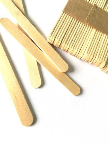 Деревянный шпатель малый 10х114мм, 100шт
