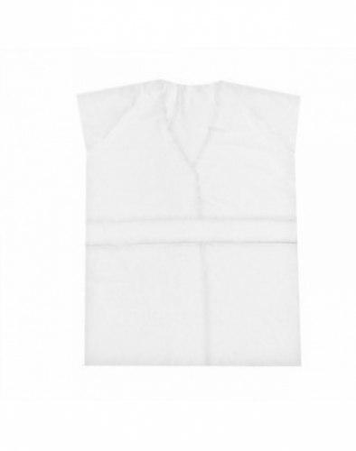 Халат-кимоно без рукавов, SMS, белый, 25 г/м2, 10 шт