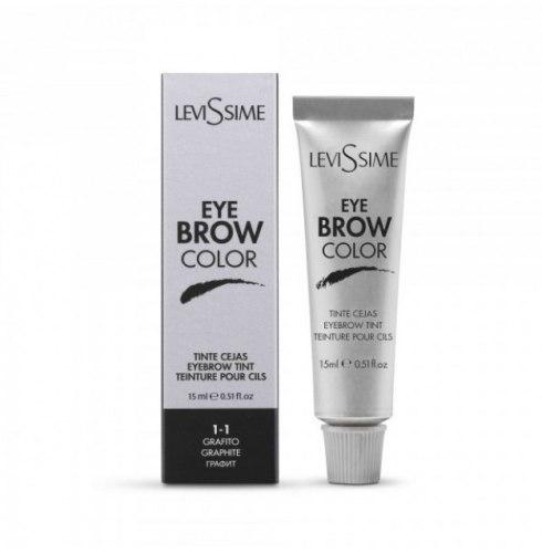 Краска для бровей и ресниц Lash Color Graphite, графит 1.1 , 15 мл Levissime