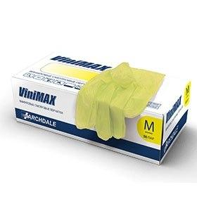 Виниловые перчатки ViniMAX желтые АРДЕЙЛ-ИМПЭКС