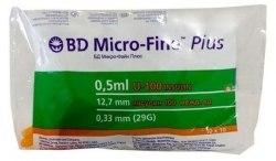 BD Micro-Fine Plus шприц 0,5 мм с интегрированной иглой BD 0,33 мм (29G)х12,7 мм