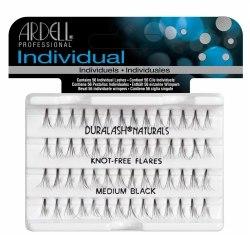 Пучки ресниц средние, безузелковые, черные - Duralash Naturals Knot-Free Flair Medium Black Ardell