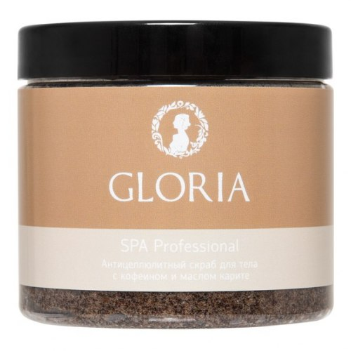 Скраб антицеллюлитный для тела с кофеином и маслом карите , 200 мл Gloria