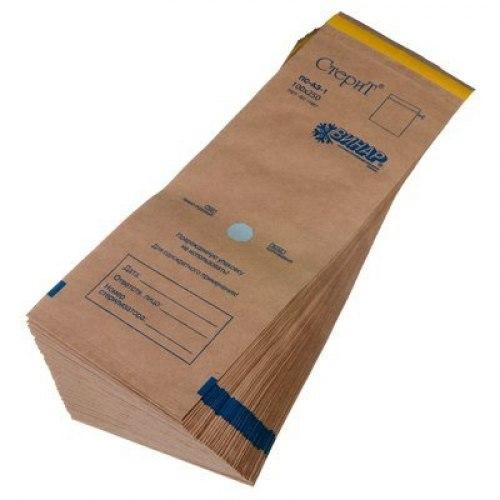 Крафт-пакеты Стерит 100 мм х 250 мм,100шт. Винар