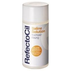 Физиологический раствор для очищения и обезжиривания кожи и волосков перед процедурой завивки, наращивания ресниц и окрашивания RefectoCil Saline, 150 мл. RefectoCil