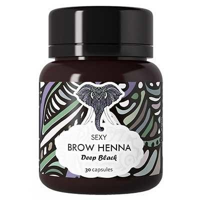 Хна для окрашивания бровей 30 капсул по 6 гр. - Brow Henna Sexy Henna Brow черная